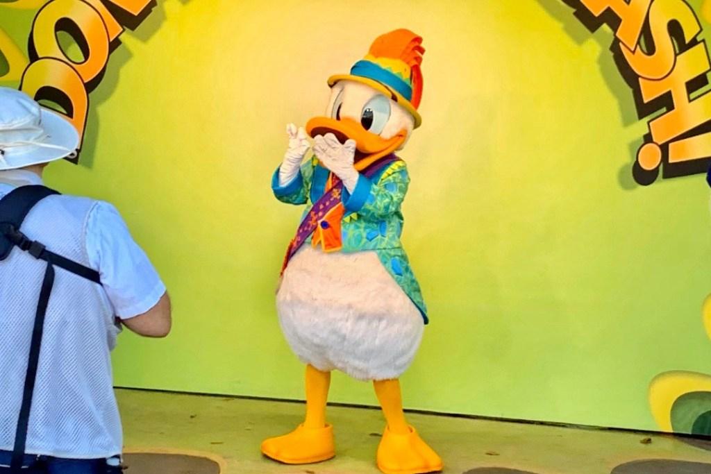 Donald Duck at Animal Kingdom Toddling Traveler