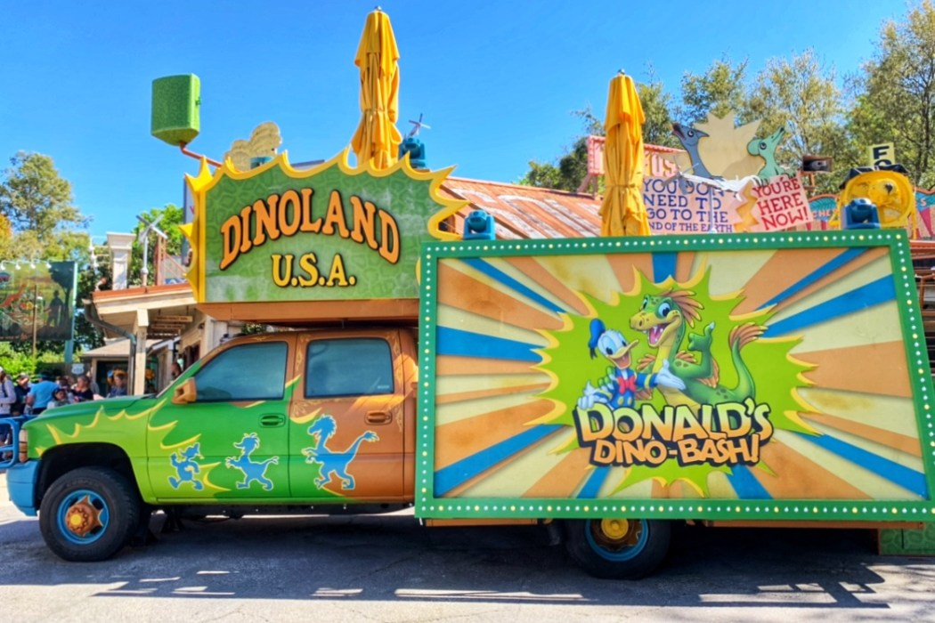 DinoLand USA Donald's Dino Bash Animal Kingdom with Toddlers Toddling Traveler