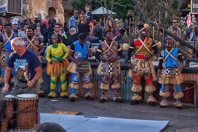 Tam Tam Drummers in Africa Animal Kingdom