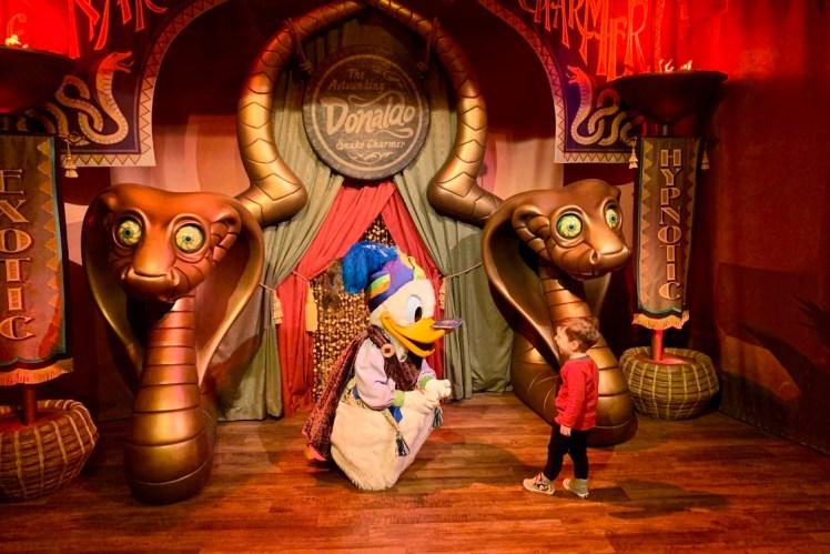 Donald Duck Magic Kingdom Character Greetings Toddling Traveler