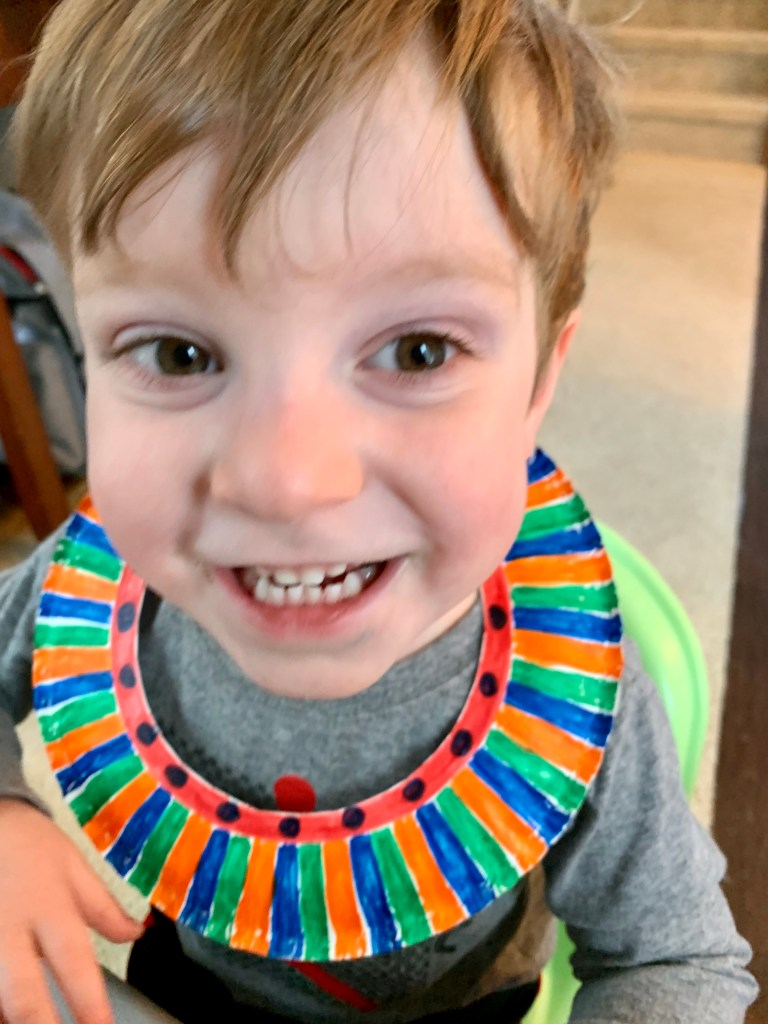 Masaai Necklace Craft Stay at Home Activities Toddling Traveler