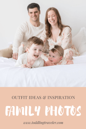 Family photo outfit ideas spring Toddling Traveler