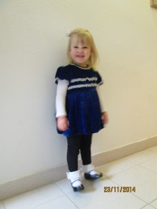 Ariela in her Sunday best!