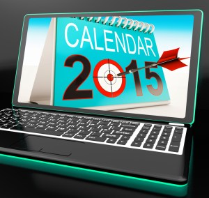 Calendar 2015 On Laptop Shows Annual Planning