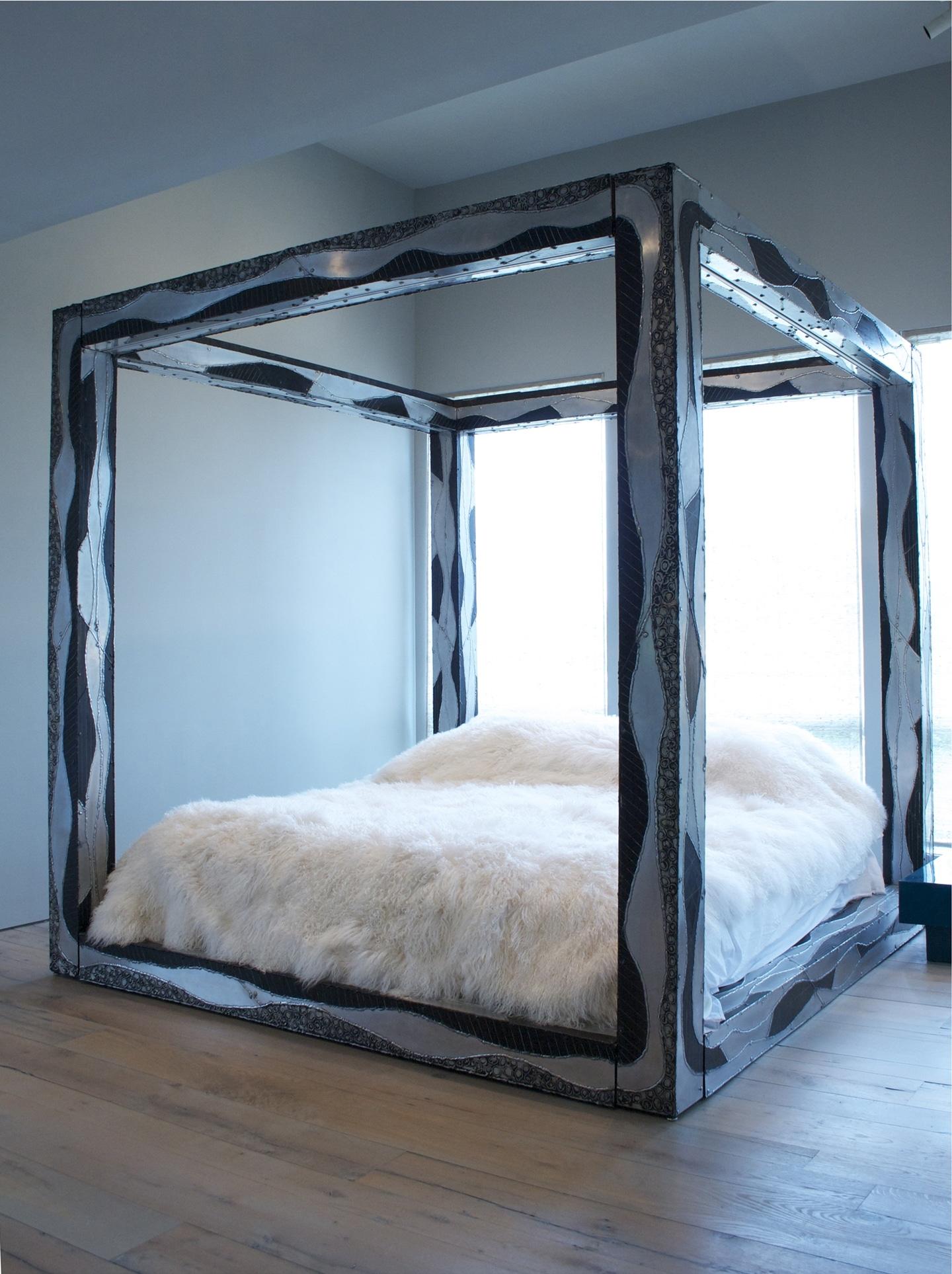 Paul Evans Rare Custom Argente King Size Bed USA C