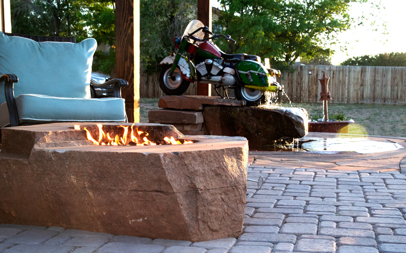 Todd's Excavating Outdoor fire pit feature and design