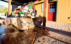 Todd's Excavating Water fountain feature