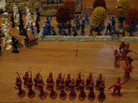 The Barzso Grenadiers prepare to take on the Colonial Regulars.