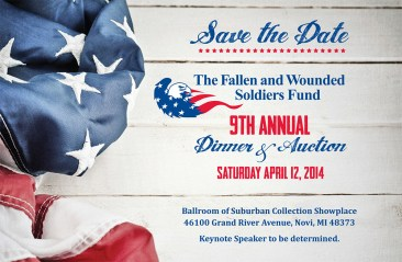 9th Annual Fallen & Wounded Soldiers Fund Dinner and Auction