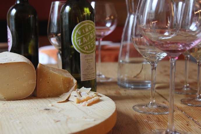 Slovenian cheese & wine at Hisa Franko