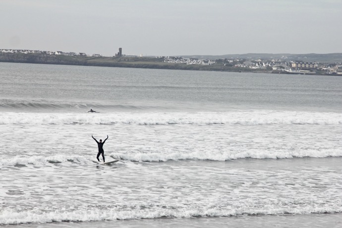 Surfin in Lahinch