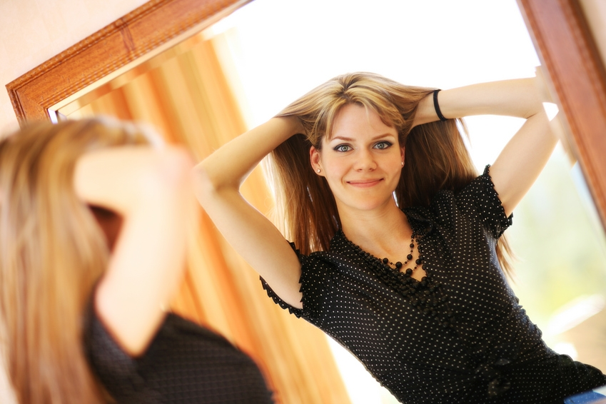 To look at yourself in the mirror