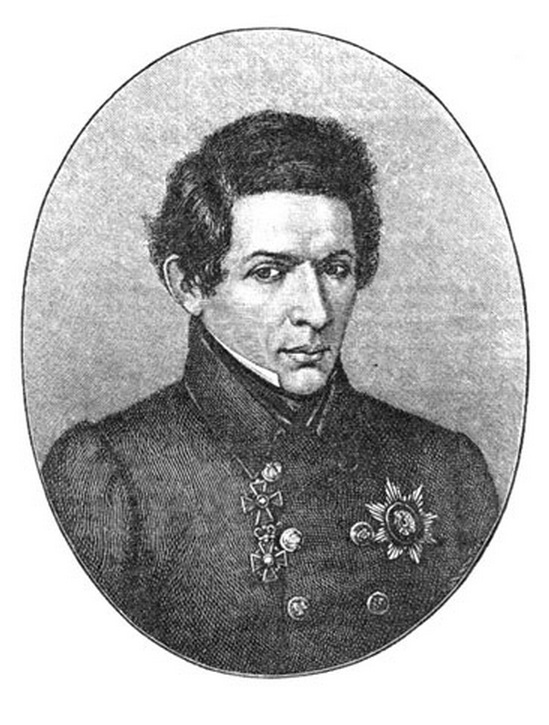 The portrait of Lobachevsky, etched in Leipzig by Gedan