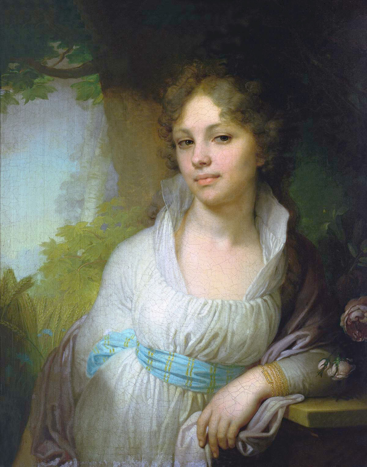 Vladimir Borovikovsky Portrait of Maria Ivanovna Lopukhina, oil on canvas (1797)