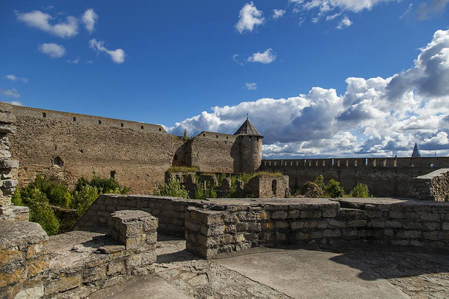 The interior court of Ivangorod Fortress