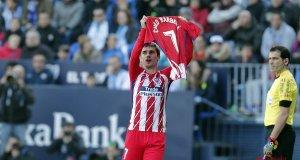 Antoine Griezmann celebrando el gol ante el Málaga / Atlético de Madrid