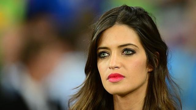 Spanish goalkeeper Iker Casillas' girlfriend Sara Carbonero is seen during the Euro 2012 football championships final match Spain vs Italy on July 1, 2012 at the Olympic Stadium in Kiev. Spain won 4-0. AFP PHOTO / FRANCK FIFE