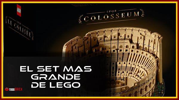 El set mas grande de lego 10726 coliseo romano