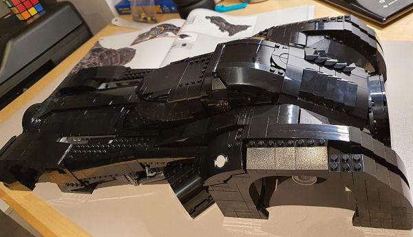 Resultado casi final del Batmobile de LEGO