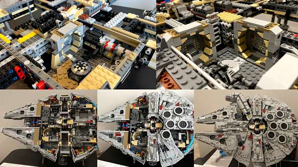 Proceso de construccion del LEGO Halcon Milenario