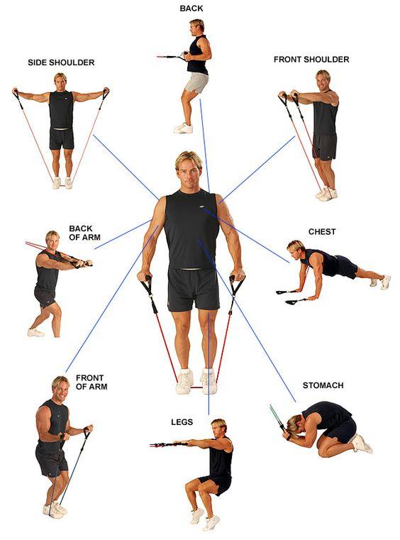 ejercicios con gomas piernas