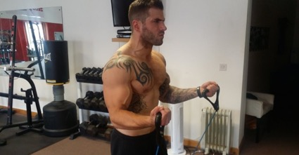 biceps con bandas elasticas