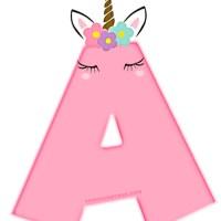 Alfabeto de Unicornios Letras para Descargar Gratis