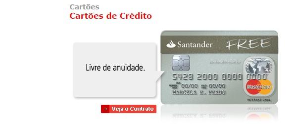 Cartao-Crédito-Santander-Free-Anuidade-Zero