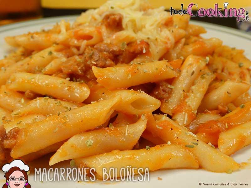 Macarrones Boloñesa