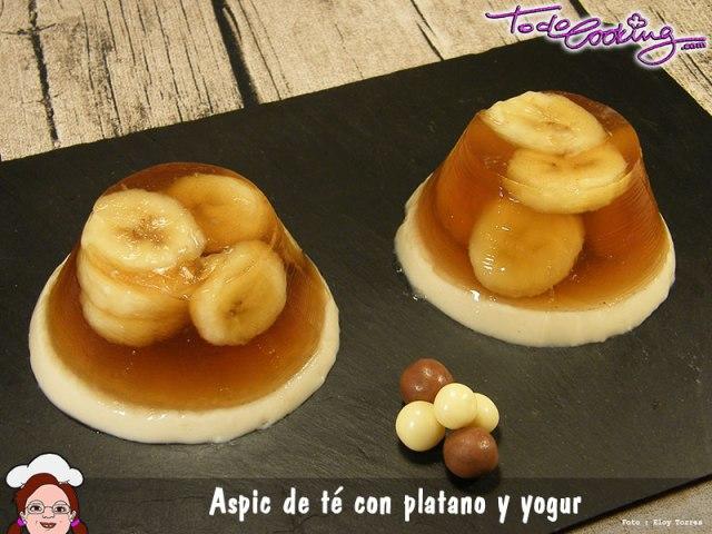 Aspic de Te con Platano y Yogurt
