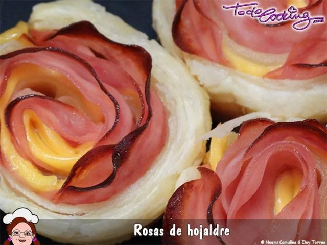 Rosas de hojaldre