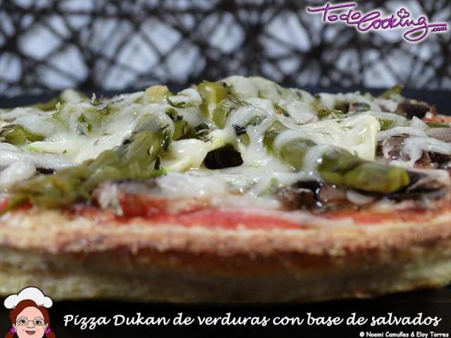 Pizza con verduras Dukan