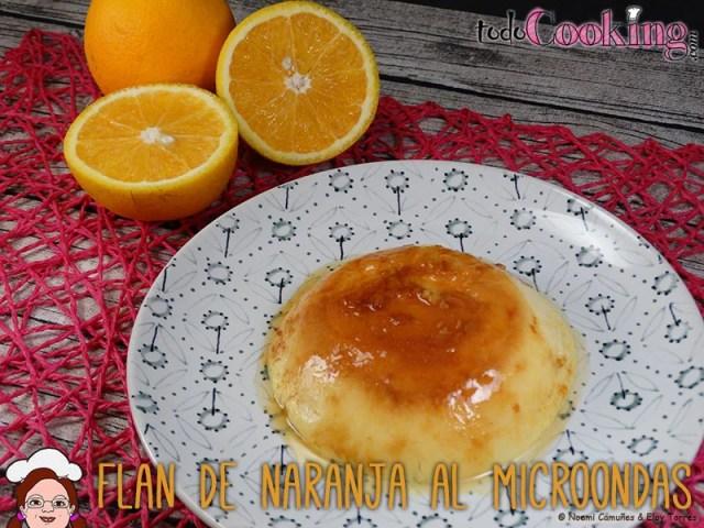 Flan de naranja en el microondas