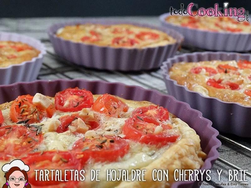 Tartaletas hojaldre cherrys y brie
