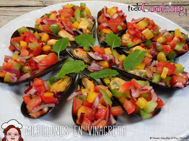 Mejillones en vinagreta, recetas saludables