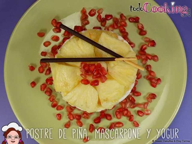 Postre Piña Mascarpone Yogur