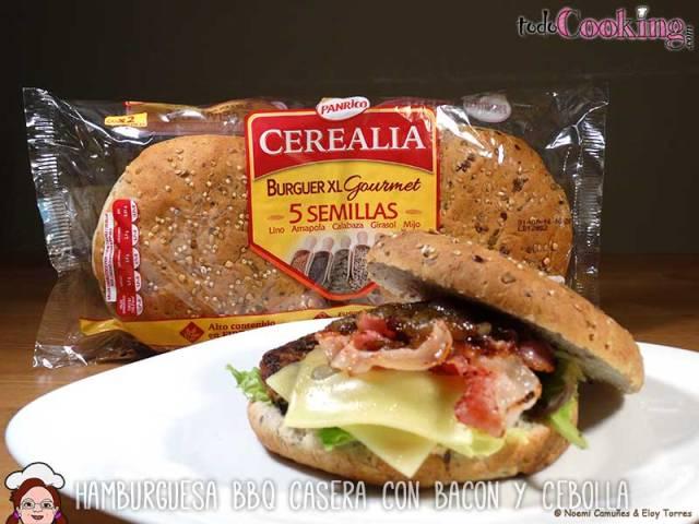 hamburguesa BBQ con pán Cerealia