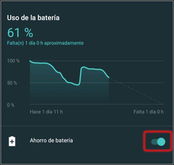 modo ahorro batería en Android