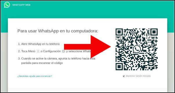 Código QR WhatsApp Web