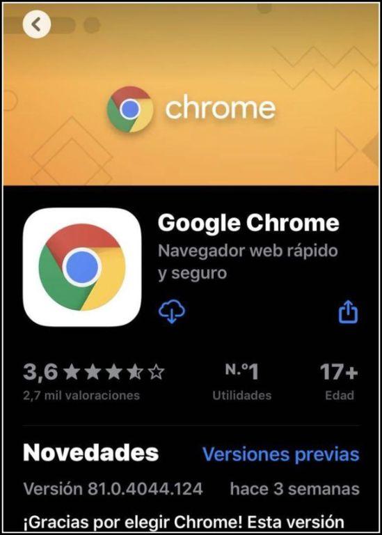 descargar Chrome para iPhone