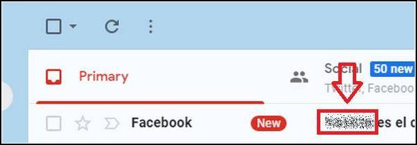 introducir código Facebook