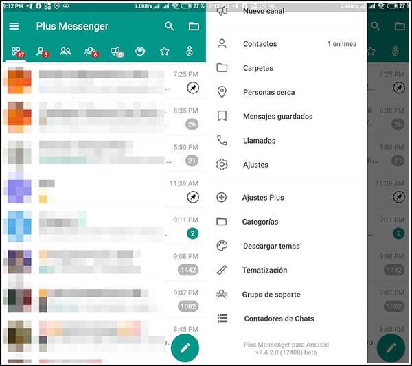 Vista previa Plus Messenger