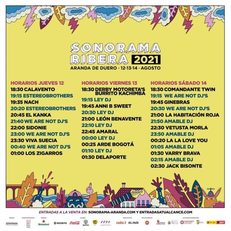 Horarios Sonorama 2021