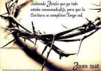 Imágenes cristianas con frases: Juan 19:28