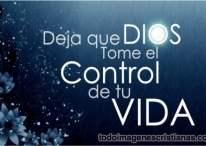 Imágenes Cristianas: Deja que Dios tome el control de tu vida