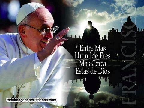 imagenes cristianas con frases del papa