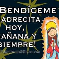 Imagen para pedir la bendición de la Virgencita de Guadalupe