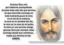 Imágenes cristianas con oraciones para agradecer a Dios antes de dormir