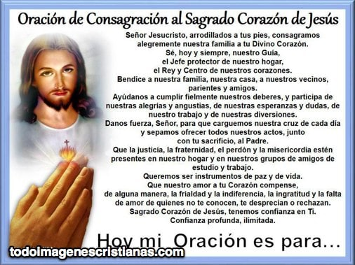 oracion sagrado corazón de jesus