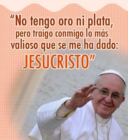 imagenes cristianas del papa francisco con frases